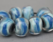 Lampwork Beads - Boro Beads - Seaside Swirl