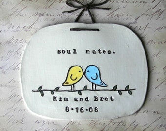 Personalized Soul Mates Wall Hanging