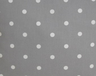 Placemat Grey Gray and White Polka Dots