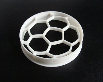 4 Inch Scoccer Ball Cookie Cutter in Plast-Clusive