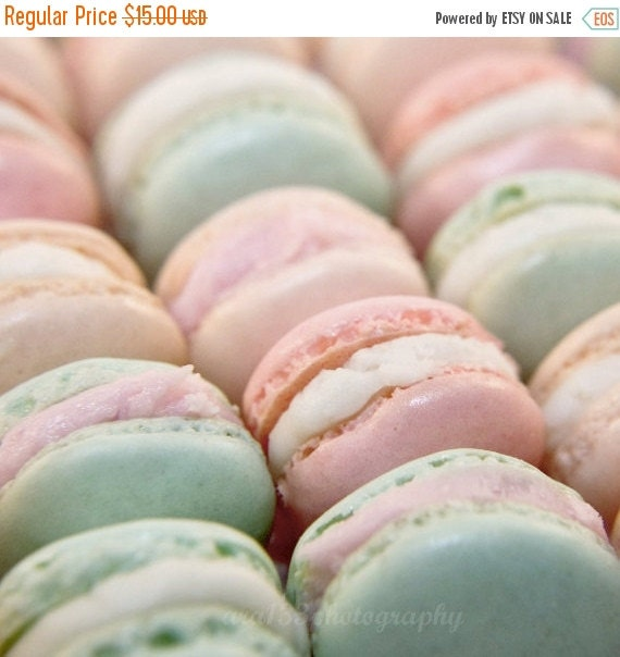 40% OFF SALE Food Photography French Macaron Parisian Pastels Spring Pale Pink Mint Green Valentine Photo Still Life 5x5 Inch Fine Art Photo