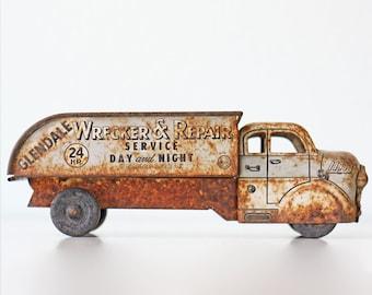 Vintage Toy Truck, Marx Glendale Wrecker & Repair Service, Dodge