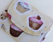 """Cupcake Wallet/Cardholder 4 1/2"""" x 3 1/2"""" free shipping please read entire description before ordering"""