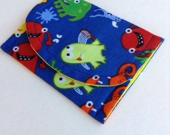 """Cute Monster Wallet/Cardholder/Gift Cardholder 4 1/2"""" x 3 1/2"""" free shipping please read entire description before ordering"""