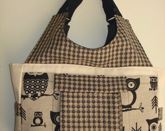 Large Carryall Tote Bag-HOOTEY OWL