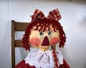 E-Pattern, Downloadable Pattern, Raggedy Doll Pattern,  Doll Pattern, Prim Doll Pattern, Primitive Pattern, Annabelle's Mom Raggedy Doll