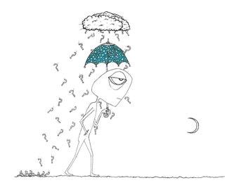 It seemed it was always raining... - print of an original illustration by seth