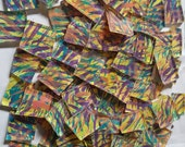Mosaic Tiles Purple Yellow Aqua and More  HP Stained Glass 100  pcs NICE SIZES Mosaic Tile
