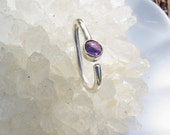 Amethyst Belly Button Ring, Navel Jewelry, Belly Piercing, Belly Ring, Body Jewelry