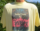 80s vintage tee NEW ORLEANS nasw social work t-shirt XL Large soft thin 1987