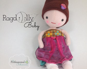 Custom Handmade Baby Doll and Soft Toy by The Professional Bohemians: RagdOlly Baby