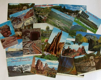 Vintage Perforated Postcards 1980's