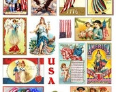 Vintage July 4th Independence Day Digital Collage Sheet Images GreatMusings No.130