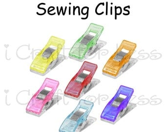 100 Mini Sewing Clip / Quilting Clips /Binding Clips / Craft Clips / Knitting and Crocheting Clips / Plastic Clips - SEE COUPON