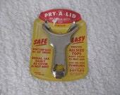 Vintage Pry-A-Lid Jar - Tumbler - Bottle Top Remover