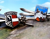 Garmisch and Zugspitze Ski Pins - Germany - 1960s - Lot of 2