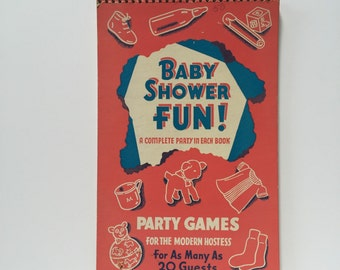 1942 Baby Shower Fun Party Games Notebook