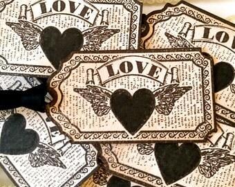 Wedding Favor Tags, Steampunk Wedding, Vintage Tags, Halloween Wedding, Steampunk Tags, Wedding Decoration, Wedding Ideas, Gothic Wedding