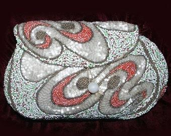 Antique Art Nouveau French Beaded Handbag