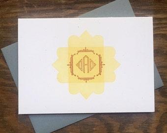 DAD letterpress card