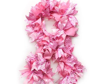 Pink Ribbon Wreath for Breast Cancer Awareness Show your support