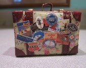 Blythe Miniature Floral Suitcase with Luggage Tags