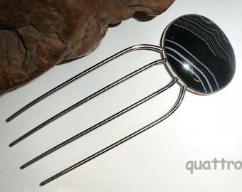 Quattro Hair Fork  ' FlexFork '  Black Agate
