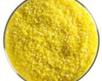 Sunflower Yellow Opal Glass Frit, 90 coe, medium size, Bullseye Glass, 1 pound container