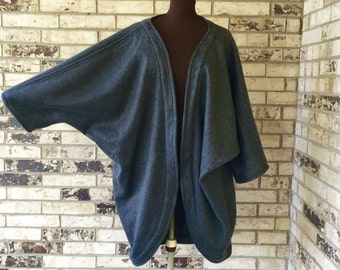 Plus Size Roomy Fleece Jacket/Shrug - ANY COLOR