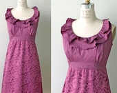 Plum Rose Lace Cocktail Dress, Bridesmaid