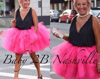 Wedding Tutu Wedding Skirt Bridesmaid Tutu Wedding Tulle Skirt Ruffled Adult Tulle Skirt Above the Knee Length Tutu All Sizes Any Color