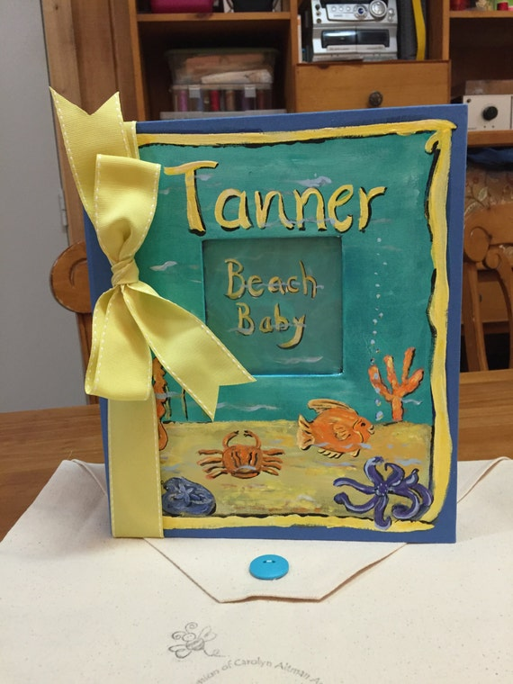 Little Beach Baby Baby Memory Book in Yellows and Blues