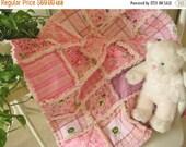 FlASH SALE SALE Baby Rag Quilt - Quilted Baby Blanket, Nursery Bedding, Crib Size - John Deere, Sassy Pink Tractors, Paisley, Bandana, Strip