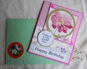 God Bless Birthday, Friends birthday, corner fold card, complete inside, complete outside, handmade, balsampondsdesign, christian