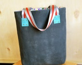 Tote Bag, Mothers Day Gift, Waxed Canvas Bag for Women, Canvas Tote Bag, Personalized Gift, Gift for Her - The LF Market Bag in Stone