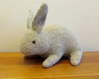 Plush Bunny Rabbit, Stuffed Animal, Natural Brown, Easter Bunny. Handmade Stuffed Animals by FeltedFriends