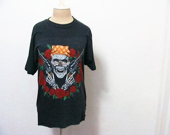 Vintage Bootleg Guns n Roses T Shirt Air Waves 1989