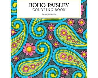 Boho Paisley Coloring Book O Design Originals Creative Colouring DO 5536