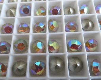 6 Sand Opal AB Swarovski Crystal Chaton  Stone 1088 39ss 8mm