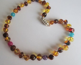 Baltic Amber HEALING GEMSTONES//BIRTHSTONE Teething Necklaces..Child///Adult///Family Necklaces///Mommy & Me