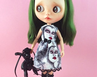 Fit and Flare Dress for Blythe and other 1:6 Dolls. Disney Villains.