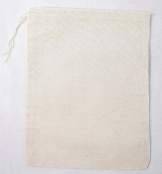 25 6x8 Natural Cotton Muslin Drawstring Bags
