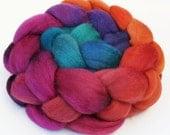 "Gradient Ombre Polwarth Wool  Spinning Fiber, 4 oz, ""Heatwave"""