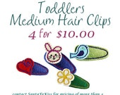 Toddlers Felt Hair Clips, Girls Felt Hair Barrettes, Birthday Party Favors for Girls