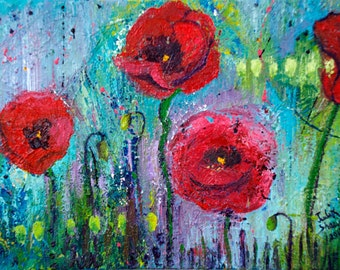 Poppies Blooming - Flower Art