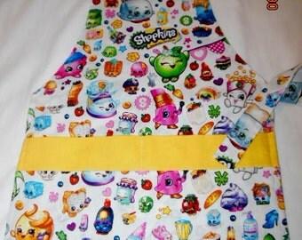 Montessori Style Shopkins Print Girls Apron