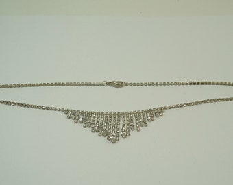 16 Inch Vintage Rhinestone Necklace