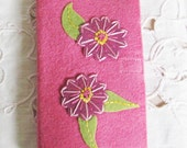 needle case for hand sewing, travel sewing kit, wool felt needle book, embroidery needle case