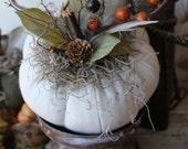 Quilted White Pumpkin, Fall Wedding, Fabric Pumpkin, Fall Autumn Decor, Thanksgiving, Halloween, Wedding, Centerpiece