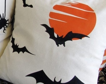 Halloween Bat Pillow Cover 18x18